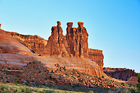Three Gossips red rock formation in Arches National Park, Utah