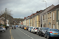 Pictured: Bridge Street in Llangennech, west Wales. Thursday 24 February 2017<br />