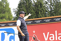 Darren Fichardt (RSA) tees off the 14th tee during Sunday's Final Round of the 2017 Omega European Masters held at Golf Club Crans-Sur-Sierre, Crans Montana, Switzerland. 10th September 2017.<br /> Picture: Eoin Clarke | Golffile<br /> <br /> <br /> All photos usage must carry mandatory copyright credit (&copy; Golffile | Eoin Clarke)