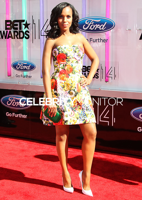 LOS ANGELES, CA, USA - JUNE 29: Actress Kerry Washington arrives at the 2014 BET Awards held at Nokia Theatre L.A. Live on June 29, 2014 in Los Angeles, California, United States. (Photo by Celebrity Monitor)