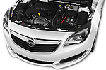Car Stock 2016 Opel Insignia Cosmo 5 Door hatchback Engine  high angle detail view