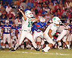 Newman quarterback Ryan Brenner fires a pass during their 34-7 loss to the John Curtis Patriots.