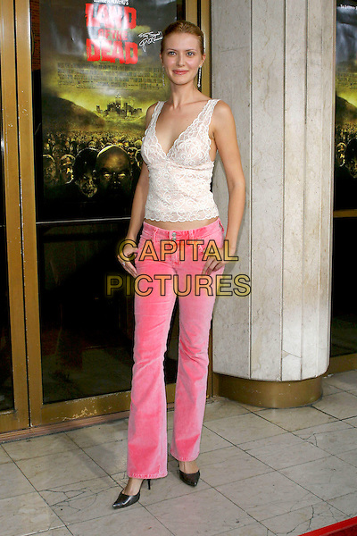 "SUZANNA URSZULY.George A. Romero's ""Land Of The Dead"" Special Los Angeles Screening held at the Mann National Theatre, Westwood, CA, USA, 20 June 2005..full length pink trousers.Ref: ADM.www.capitalpictures.com.sales@capitalpictures.com.©Jacqui Wong/AdMedia/Capital Pictures."