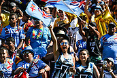 3rd February 2019, Spotless Stadium, Sydney, Australia; HSBC Sydney Rugby Sevens; New Zealand versus Fiji; Mens semi final; Fiji fans celebrate a try