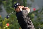 Patrick Reed of USA tees off during the 58th UBS Hong Kong Golf Open as part of the European Tour on 10 December 2016, at the Hong Kong Golf Club, Fanling, Hong Kong, China. Photo by Vivek Prakash / Power Sport Images