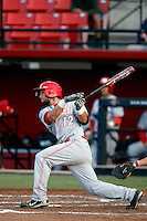 Chase Harris #12 of the New Mexico Lobos bats against the San Diego State Aztecs at Tony Gwynn Stadium on May 16, 2013 in San Diego, California. New Mexico defeated San Diego State, 14-6. (Larry Goren/Four Seam Images)