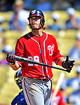 24 July 2011: Washington Nationals outfielder Jayson Werth in action against the Los Angeles Dodgers at Dodger Stadium in Los Angeles, California. The Dodgers defeated the Nationals 3-1 to take the rubber match of their three game series. Mandatory Credit: Ed Wolfstein Photo