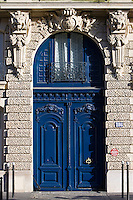 Parisian arched doorway, Boulevard Saint Germain, Paris, France