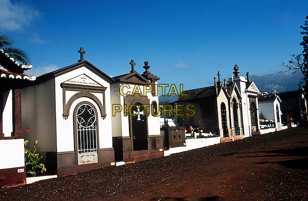 Mausoleums in the main cemetery near, Funchal, Madeira