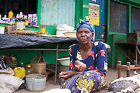 Old Woman in Dambwa Central Market, Livingstone,  Zambia