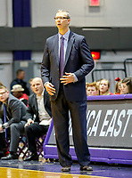 Stony Brook defeats UAlbany  69-60 in the America East Conference tournament quaterfinals at the  SEFCU Arena, Mar. 3, 2018.  Stony Brook coach Jeff Boals.