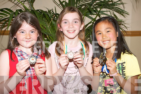 BASKETBALL AWARDS: Member's of Tralee Imperials U10's team having fun at the Strand Road clubhouse on Friday l-r: Rachel Driscoll, Niamh McMahon and Sarah Ferguson.