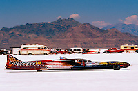 "Speed Week Bonneville Salt Flats Turbin powered Vesco Racing ""The Turbinator"" Record 458.44 mph"