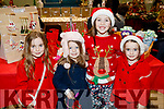 Elsie Dowling, Aoibheann Hannah Dowling, Emily McCarthy and Amy Dowling, pictured at Ardfert Christmas Craft Fair on Sunday last.
