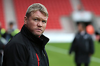 Doncaster Rovers manager Grant McCann looks on before kick off<br /> <br /> Photographer David Shipman/CameraSport<br /> <br /> The EFL Sky Bet League One - Doncaster Rovers v Fleetwood Town - Saturday 6th October 2018 - Keepmoat Stadium - Doncaster<br /> <br /> World Copyright &copy; 2018 CameraSport. All rights reserved. 43 Linden Ave. Countesthorpe. Leicester. England. LE8 5PG - Tel: +44 (0) 116 277 4147 - admin@camerasport.com - www.camerasport.com