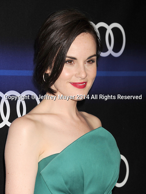 LOS ANGELES, CA- AUGUST 21: Actress Michelle Dockery arrives at the Audi Emmy Week Celebration at Cecconi's Restaurant on August 21, 2014 in Los Angeles, California.