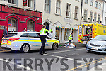 ACCIDENT: A woman in her 40s was brought to University Hospital Kerry on Monday afternoon after being knocked over by a cyclist on Castle St.