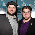 Daniel Everidge and Jonathan Judge Russo attending the Off-Broadway Opening Night Performance After Party for 'Falling' at Knickerbocker Bar & Grill on October 15, 2012 in New York City.