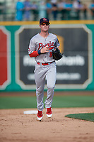 Peoria Chiefs outfielder Brandon Benson (8) during a Midwest League game against the Fort Wayne TinCaps on July 17, 2019 at Parkview Field in Fort Wayne, Indiana.  Fort Wayne defeated Peoria 6-2.  (Mike Janes/Four Seam Images)