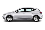 Car Driver side profile view of a 2015 Seat Leon Style 5 Door Hatchback Side View