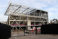 General view of Brentford's Community Stadium being built in Lionel Road South, Brentford, less than a mile from Griffin Park. The new Stadium is due to be completed by the summer of 2020 and will be the home ground of Brentford FC and London Irish RFC during Brentford vs Aston Villa, Sky Bet EFL Championship Football at Griffin Park on 13th February 2019