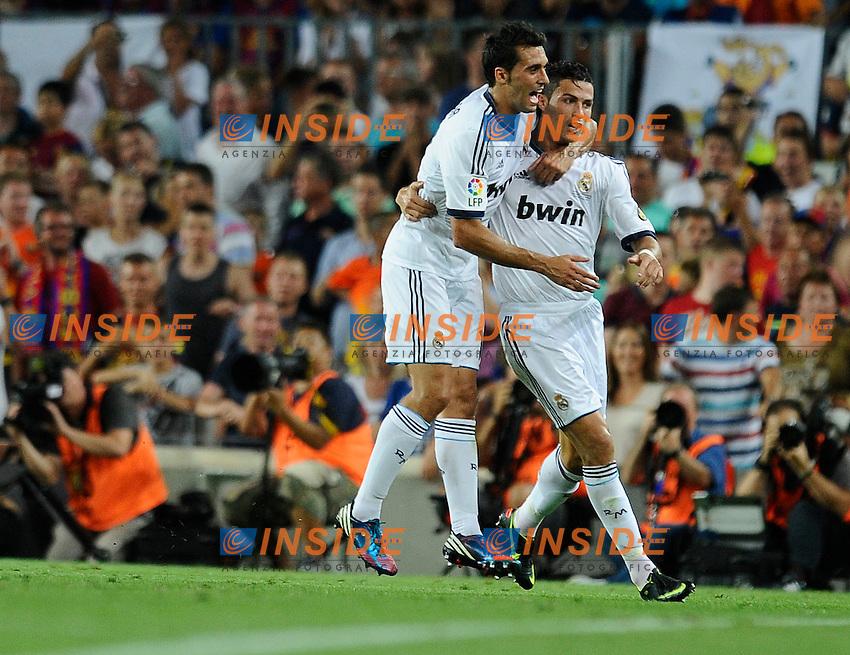 Higuain (Real Madrid) - Cristiano Ronaldo (Real Madrid) .Barcellona 23/8/2012 Stadio Nou Camp.Football Calcio 2012/2013 Superliga.Barcellona Vs Real Madrid.Foto Insidefoto / Paco Largo / Panoramic.ITALY ONLY