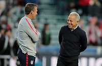 Cary, N.C. - Tuesday March 27, 2018: John Hackworth, Dave Sarachan during an International friendly game between the men's national teams of the United States (USA) and Paraguay (PAR) at Sahlen's Stadium at WakeMed Soccer Park.