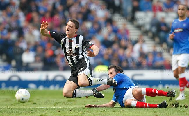 Stephen McGinn fouled by Christian Dailly