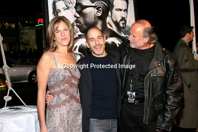 Producer Lynn Harris, writer/director David Goyer &amp; executive producer Avi Arad<br />&quot;Blade: Trinity&quot; Premiere <br />Grauman&rsquo;s Chinese Theatre<br />Hollywood, CA, USA<br />Tuesday, December 7th, 2004<br />Photo By Celebrityvibe.com/Photovibe.com, <br />New York, USA, Phone 212 410 5354, <br />email: sales@celebrityvibe.com
