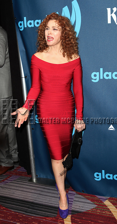 Bernadette Peters attending the 24th Annual GLAAD Media Awards at the Marriott Marquis Hotel in New York City on 3/16/2013.