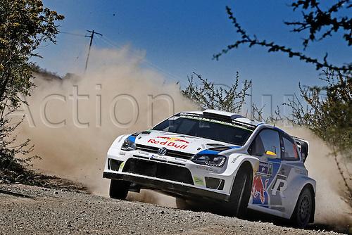 06.03.2014. GUANAJUATO, Mexico. The World Rally Championships (WRC) of Mexico.  Andreas Mikkelsen (NOR) and Mikko Markkula (FIN) -Volkswagen Polo WRC