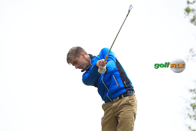 Robert Browme (Castle) on the 7th tee during Round 2 of the Irish Boys Amateur Open Championship at Tuam Golf Club on Wednesday 24th June 2015.<br /> Picture:  Thos Caffrey / www.golffile.ie