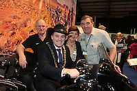 NO FEE PICTURES.25/1/13 Lord Mayor of Dublin Naoise Ó Muirí and Clare Dunne, President ITAA with David Buckley and Tony Toner at the Holiday World Show at the RDS, Dublin. Picture:Arthur Carron/Collins