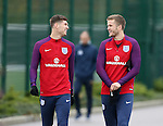 England's John Stones and Eric Dier during at Tottenham Hotspur training centre, London. Picture date November 14th, 2016 Pic David Klein/Sportimage