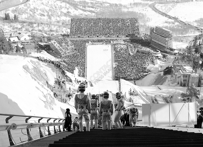 Ski Jumping, Winter Olympics, Park City Utah, USA.  February 2002