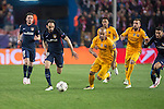 Atletico de Madrid's Juanfran and FC Barcelona Mascherano and Jordi Alba during Champions League 2015/2016 Quarter-Finals 2nd leg match. April 13, 2016. (ALTERPHOTOS/BorjaB.Hojas)