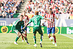 Atletico de Madrid's Filipe Luis and Real Betis's Kadir and Musonda Jr. during BBVA La Liga match. April 02,2016. (ALTERPHOTOS/Borja B.Hojas)