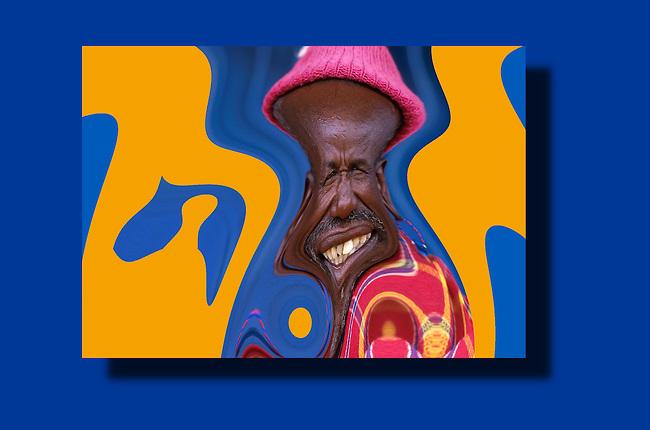 East Africa Tanzania masai. Computer generated photo art