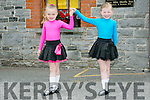 l-r  Chloe O'Sullivan from Abbeydorney and Shauna Breen from Duagh at the 55th Féile Cheoil Step dancing competitions at the Ceolann building Lixnaw on Saturday