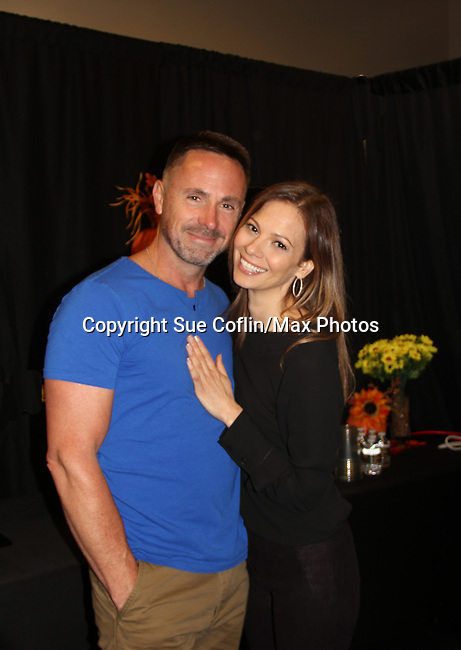 General Hospital's actors - William DeVry and Tamara Braun on October 5, 2019 at the Hollywood Casino, Columbus, Ohio with a Q & A and a VIP meet and greet. (Photo by Sue Coflin/Max Photo)