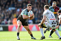 Lewis Boyce of Harlequins in possession. Gallagher Premiership match, between Harlequins and Gloucester Rugby on March 10, 2019 at the Twickenham Stoop in London, England. Photo by: Patrick Khachfe / JMP