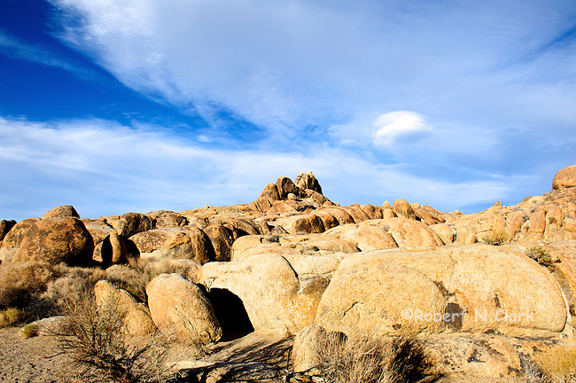 The Alabama Hills outside Lone Pine, CA; the location of many westerns and other movies