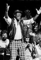1986, Hilversum, Dutch Open, Melkhuisje, Max Woisky jr, een van de grootste supporters op het melkhuisje