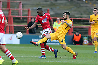 O's ALex Lawless & Akil Wright during Wrexham vs Leyton Orient, Buildbase FA Trophy Football at the Racecourse Ground on 12th January 2019