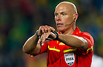 28.06.2010, Ellis Park Stadium, Johannesburg, RSA, FIFA WM 2010, Brazil (BRA) vs Chile. (CHI), im Bild Referee Howard Webb (ENG) during the 2010 FIFA World Cup South Africa. EXPA Pictures © 2010, PhotoCredit: EXPA/ Sportida/ Vid Ponikvar +++ Slovenia OUT +++