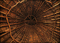 BNPS.co.uk (01202 558833)<br /> Pic: UpcottRoundhouse/BNPS<br /> <br /> Yabba-dabba-doo...<br /> <br /> A farmer has painstakingly recreated an Iron Age roundhouse to enable holidaymakers to release their inner Flintstone in the heart of the Devon countryside.<br /> <br /> Charles Cole has gone back over 2000 years to offer a back to basic's experience including a stone hearth fire, rudimentary plumbing, composting toilet and a six ton thatched roof to keep out the wind and rain.<br /> <br /> The amazing structure has been completely hand built by Charles and his family from materials sourced from their own farm and they have just opened up for bookings at &pound;170 a night..animal skins are optional.