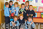 &nbsp;TOYS: Playing with toys on their first day at Bouleenshere National School, Ballyheigue, on Monday. Front l-r: Leah Galloway, Steven Daley and Katelyn Stritch. Back l-r: Finian Barrett, Matthew Dineen, Jimmy O'Halloran, Aidan Reidy, Yasmin Kahraman and Seamie O'Fuaráin.<br />
