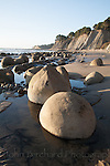 Unusual rock formations of Bowling Ball Beach just south of Point Arena, California on the Mendocino Coast.