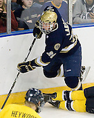 Nick Larson (Notre Dame - 26) - The University of Notre Dame Fighting Irish defeated the Merrimack College Warriors 4-3 in overtime in their NCAA Northeast Regional Semi-Final on Saturday, March 26, 2011, at Verizon Wireless Arena in Manchester, New Hampshire.