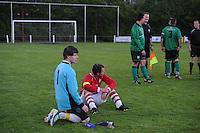 VOETBAL: JUBBEGA: Sportpark 't Heidefjild, 16-05-2012, Nacompetitie, Zondag 4e klasse B, SC Boornbergum'80 - Haulerwijk, Eindstand 2-1, Keeper Julian Hut (#1 | HW), Aanvoerder Hielke Hut (#10 | HW), ©foto Martin de Jong